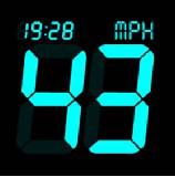 Autó sebességmérő kijelző (Android alkalmazás)