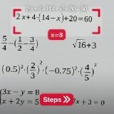 Photomath - matematika egyenletek megoldása (IOS alkalmazás)